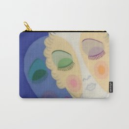 """Art Deco Design """"Three Faces"""" by Erté Carry-All Pouch"""