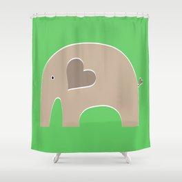 Green Safari Elephant 2 Shower Curtain