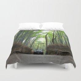 Arashiyama Bamboo Forest Kyoto Japan Duvet Cover
