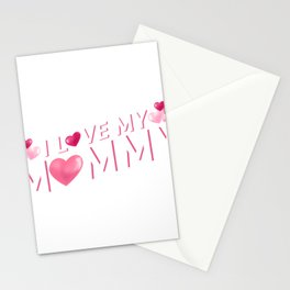 I Love My Mommy Mother's Day Gift Cute Kids Stationery Cards