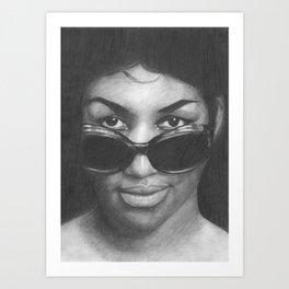 Aretha Franklin Art Print