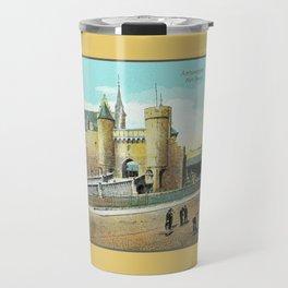 Antwerpen Antwerp Steen medieval castle Travel Mug