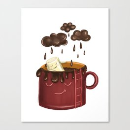 Chocolate rain Canvas Print