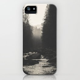 Morning river iPhone Case