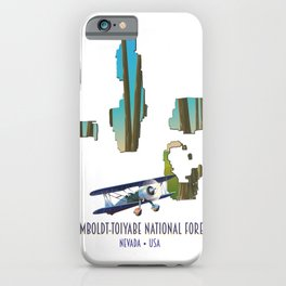 humboldt-toiyabe national forest Nevada Map iPhone Case