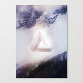 Infinite Triangle Canvas Print