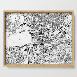 Berlin buildings map Serving Tray