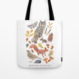 Autumn Wildlife - Annotated Tote Bag