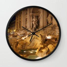 Trevi Fountain - Rome, Italy Wall Clock