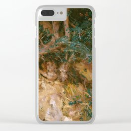 Valdemosa, Majorca: Thistles and Herbage on a Hillside, 19 Clear iPhone Case