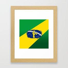 lets dance brazilian zouk flag design Framed Art Print