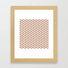 Three red pattern Framed Art Print