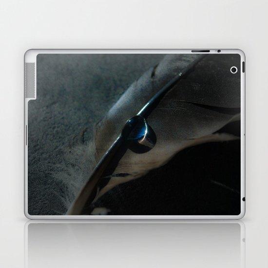 crow feather Laptop & iPad Skin