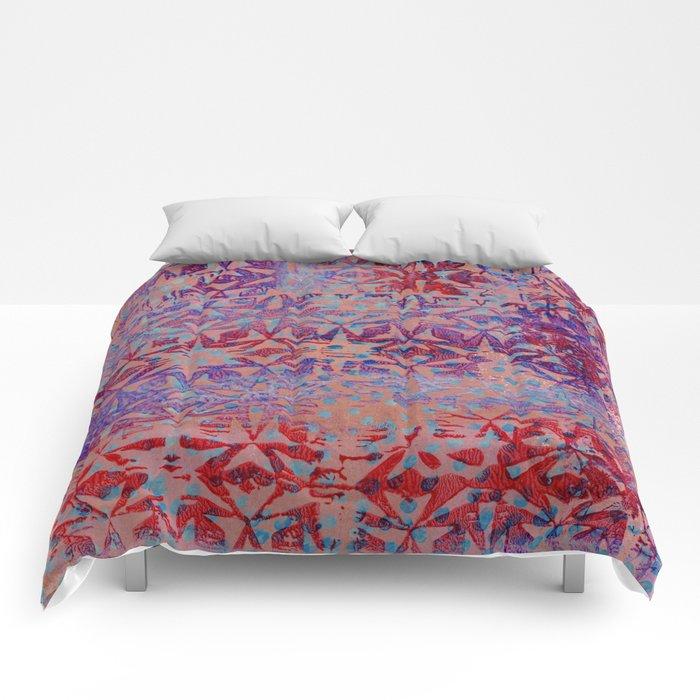 Starry pinky purple reds Comforters