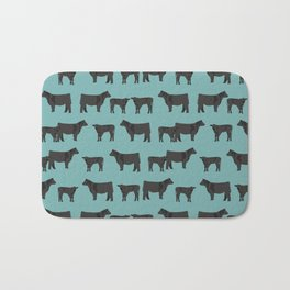 Angus Cattle breed farm gifts must have cow animal Bath Mat
