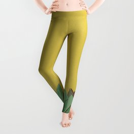 Succulent Art  Leggings