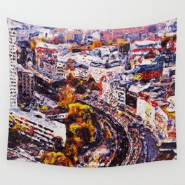 Streets of Berlin Wall Tapestry