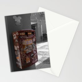 Bologna Red Letter Box Street Art Black and White Photography Stationery Cards