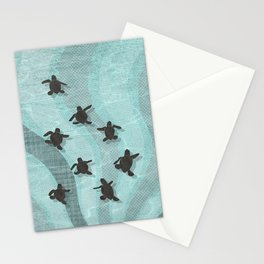 Loggerhead sea turtle hatchlings Stationery Cards