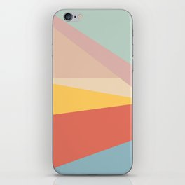 Retro Abstract Geometric iPhone Skin