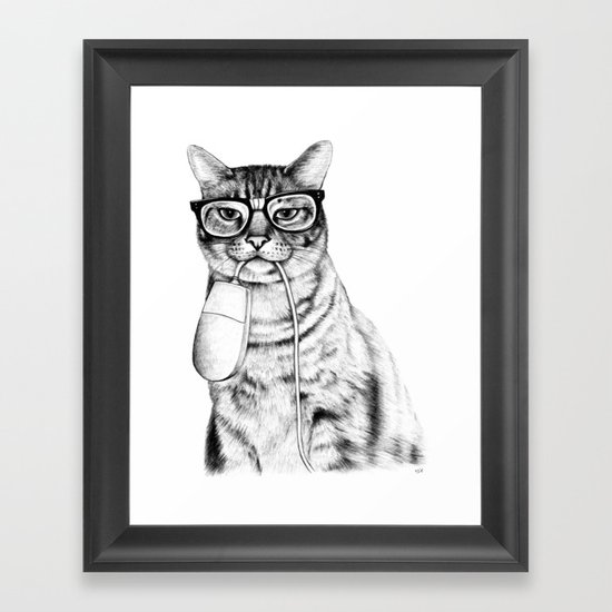 Mac Cat Framed Art Print