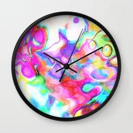 Watercolor Abstract Wall Clock