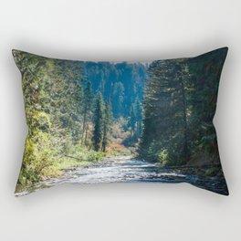 Fall Trees Photography Print Rectangular Pillow