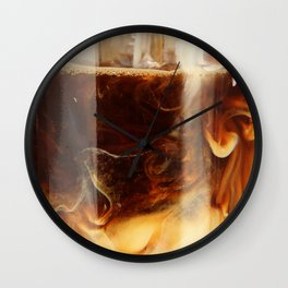 Magic of Ice Cafe Latte Coffee Wall Clock