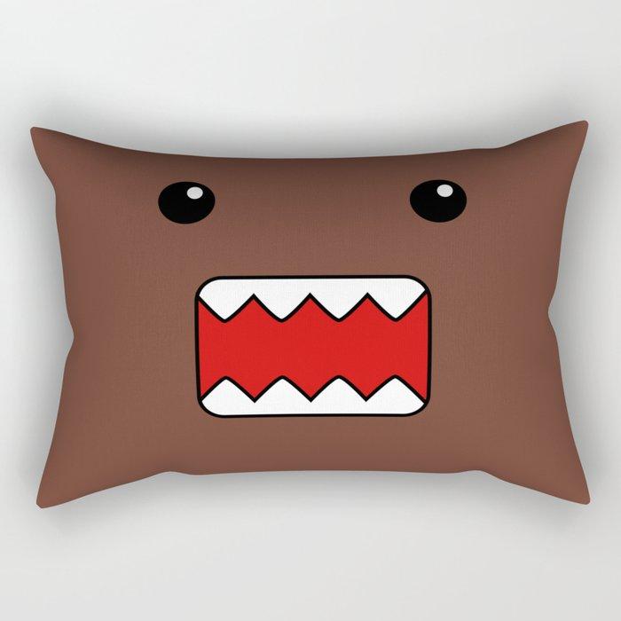 domo kun brown japanese monster rectangular pillow by cutecutecute