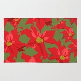 Poinsettia Love (Red) Rug