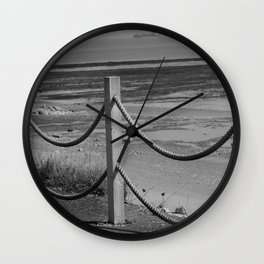Ropes At Low Tide Wall Clock