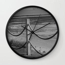 Ropes At Low Tide Wall Clock
