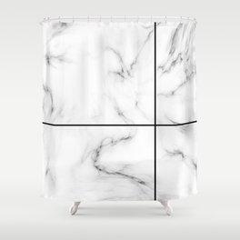 Marble Cross Shower Curtain