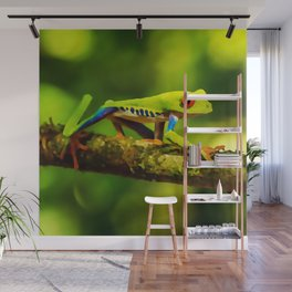 red-eyed tree frog | Watercolor Painting Wall Mural