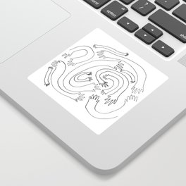 Minimalist Hand Maze Sticker