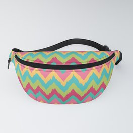 Bright Retro Chevron Zig Zag Pattern Fanny Pack