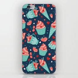 Valentine's sweets - Blue iPhone Skin