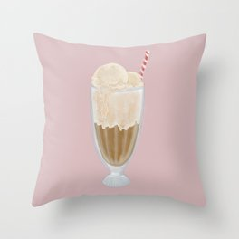 Root Beer Float Throw Pillow