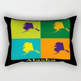 Colorful Alaska State Pop Art Map Rectangular Pillow