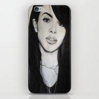aaliyah iPhone & iPod Skins featuring AALIYAH by alittleart
