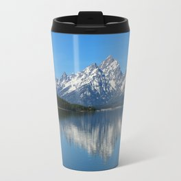 Jackson Lake and Grand Teton Refection Travel Mug