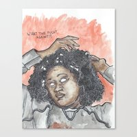 oitnb Canvas Prints featuring Taystee OITNB by Ashley Rowe