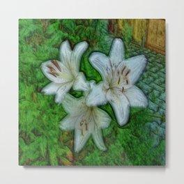 White beautiful Lily Metal Print