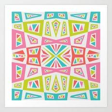 checkmate kaleidoscope Art Print