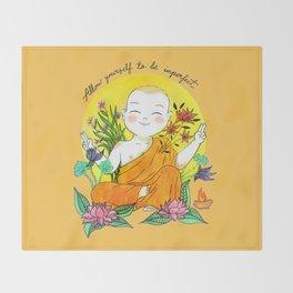 The Buddhist Monk Throw Blanket