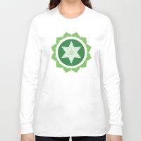 chakra Long Sleeve T-shirts featuring Heart Chakra by Iron Elefante