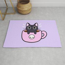 Pastel Coffee Cat Rug