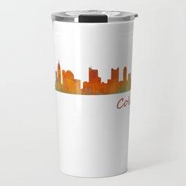 Columbus Ohio, City Skyline, watercolor  Cityscape Hq v1 Travel Mug