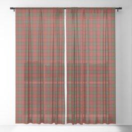 MacDonald of Glencoe Tartan Plaid Sheer Curtain
