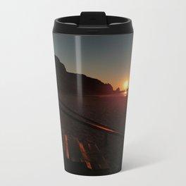 Shack by the sea at sunrise Metal Travel Mug